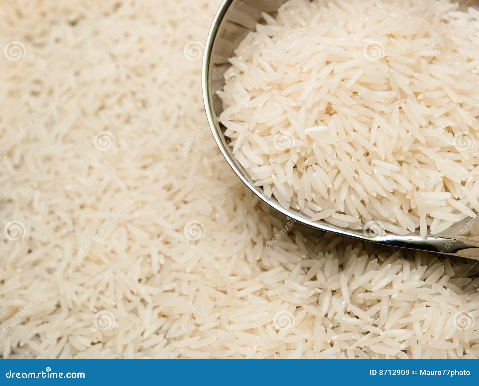Basmati rice and ladle