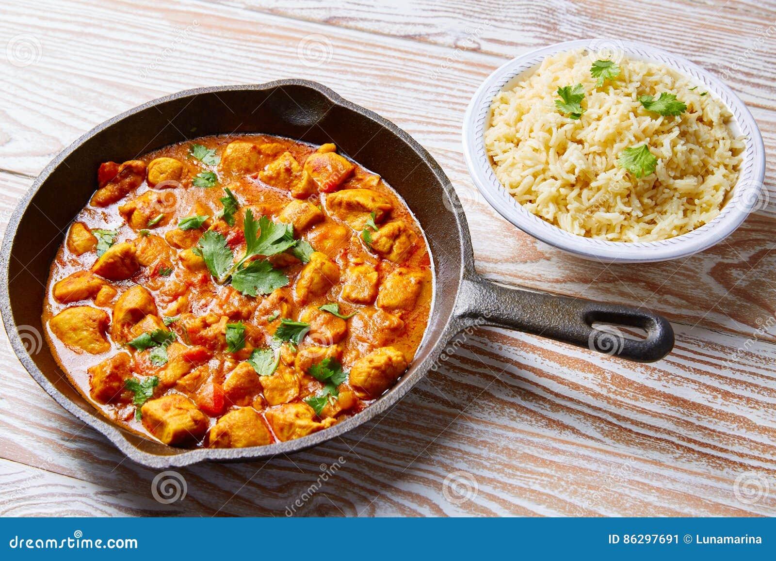 Basmati ris för fegt recept för curry indiskt