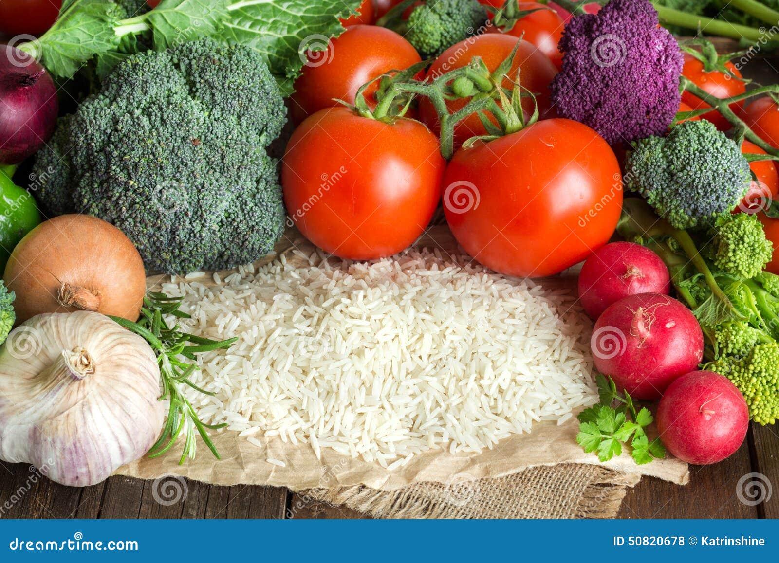 Basmati ryż i warzywa