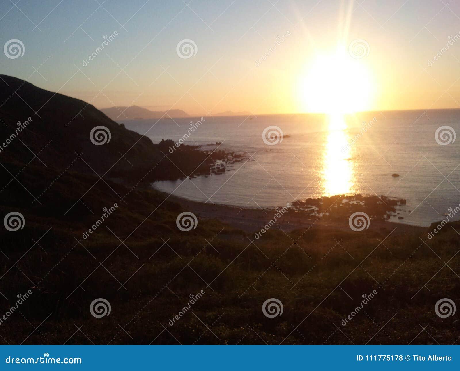 Basque countri sunset