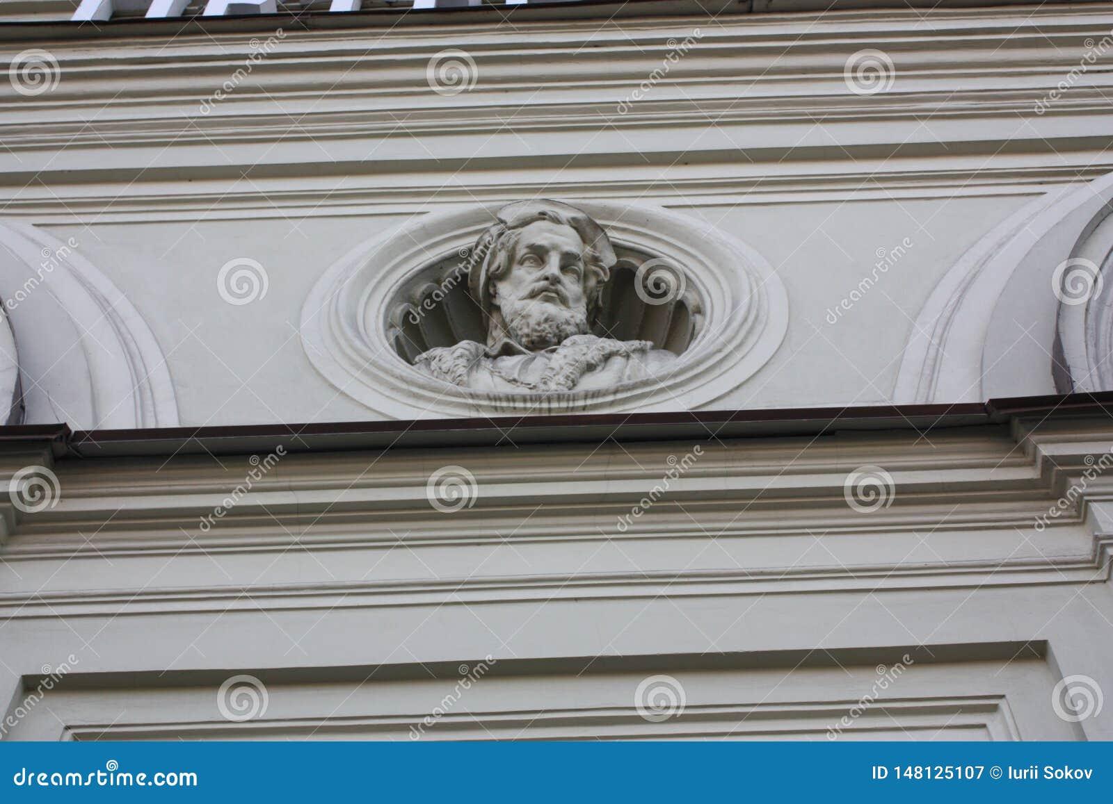 Basrelief p? fasaden av Petersburg