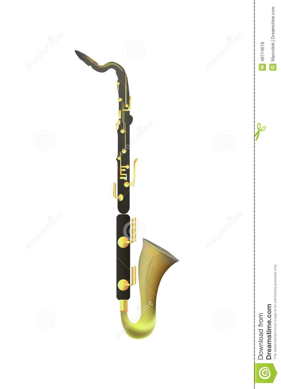 how to draw a bass clarinet