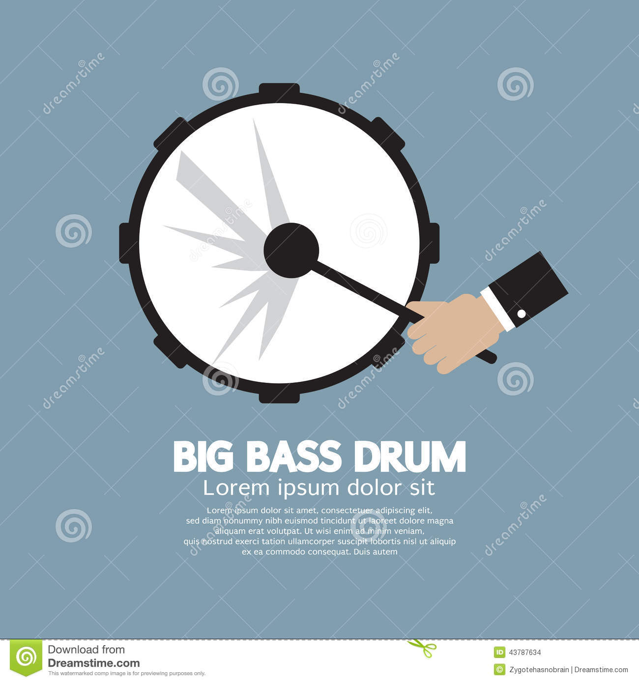 Bass Drum Music Instrument grande