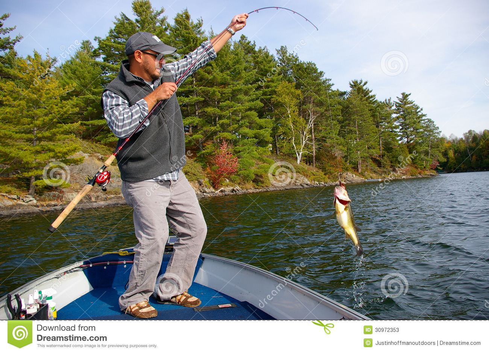 Bass Fishing de large ouverture