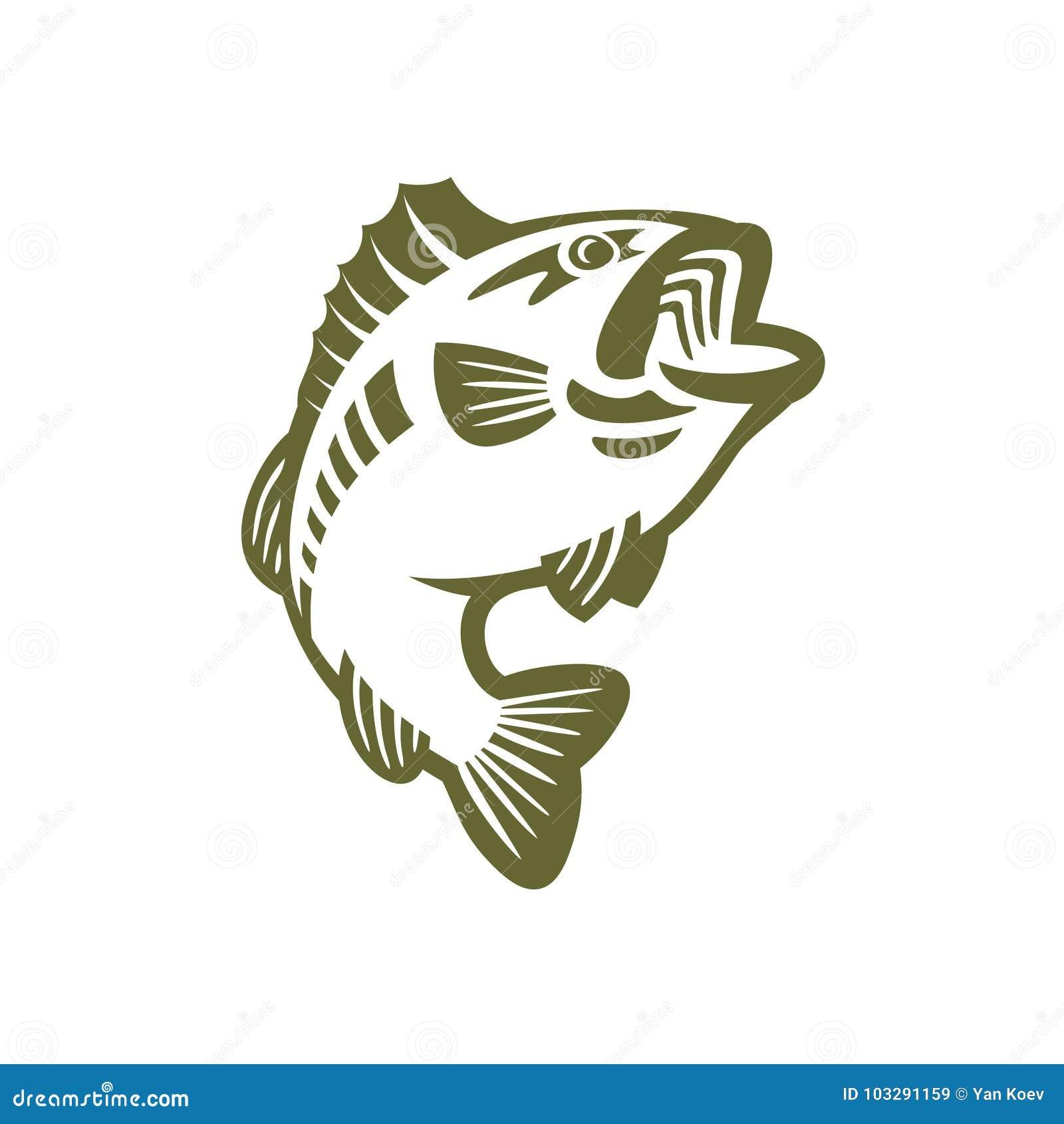 Bass Fish Logo Stock Vector Illustration Of Animal 103291159