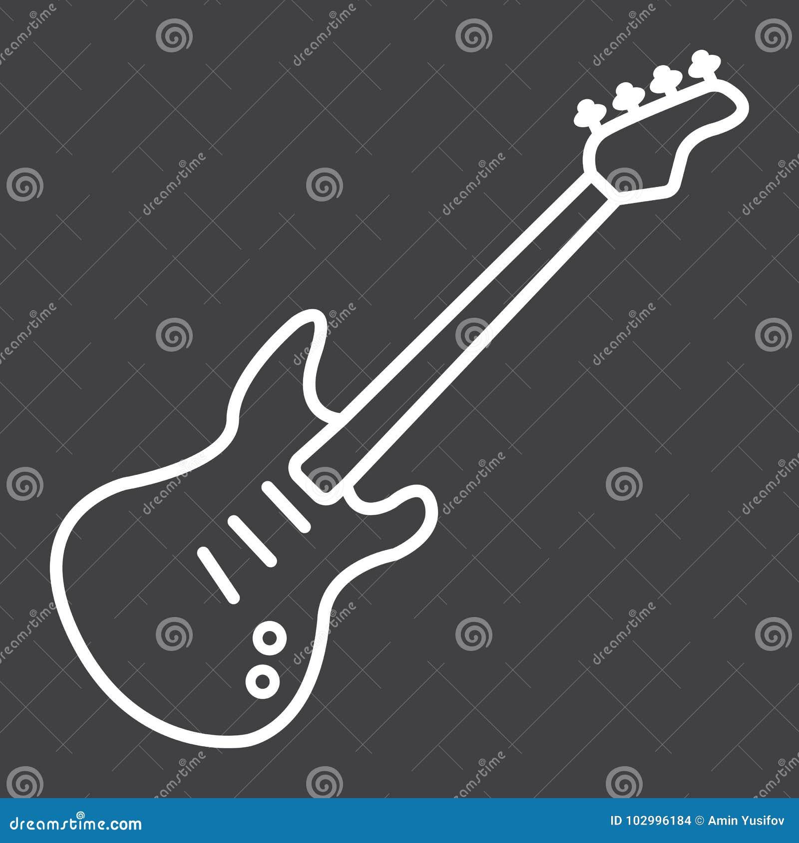 Bass-Gitarrenlinie Ikone, Musik und Instrument