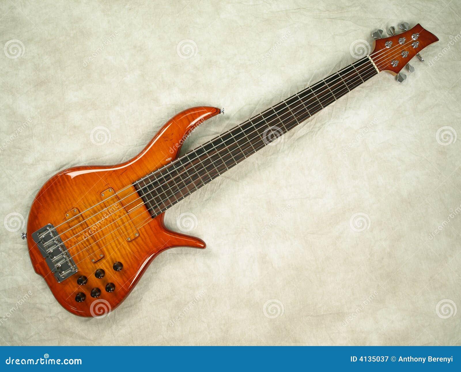 Bass guitar honey color full