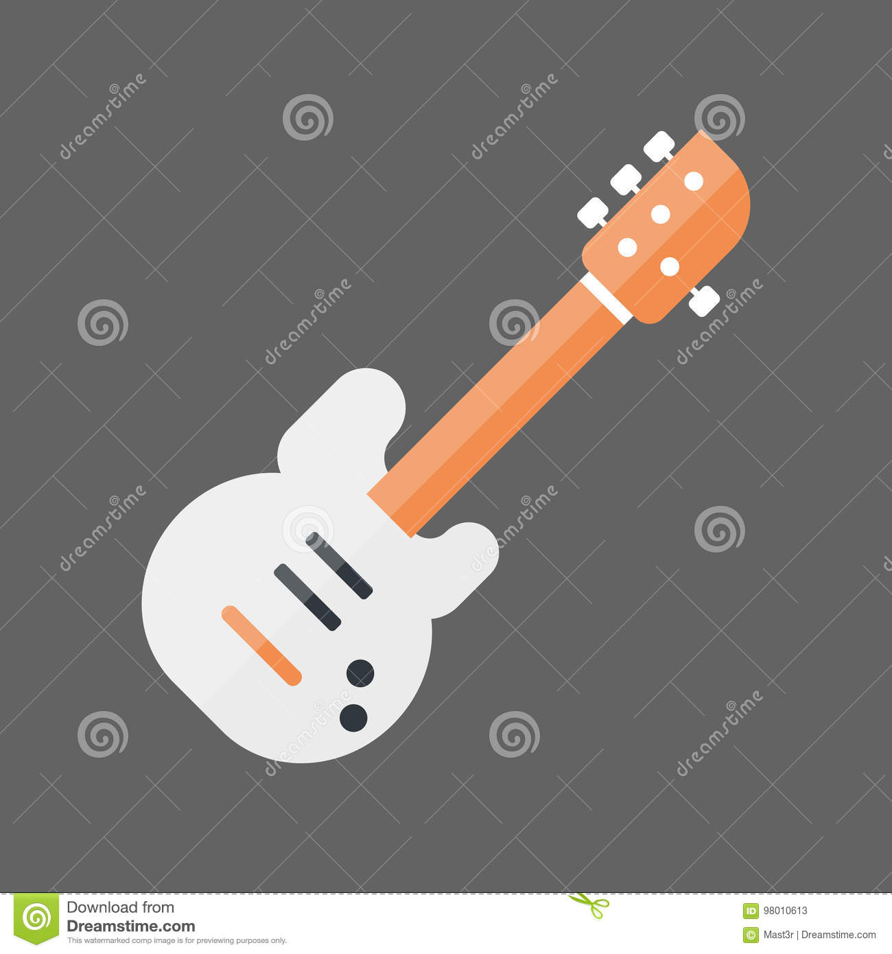 Bass Guitar Icon Music Instrument-Concept