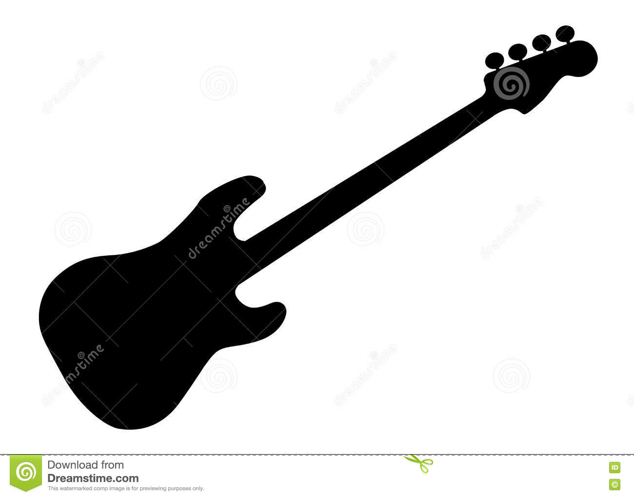 bass guitar silhouette stock vector illustration of stringed 79143546