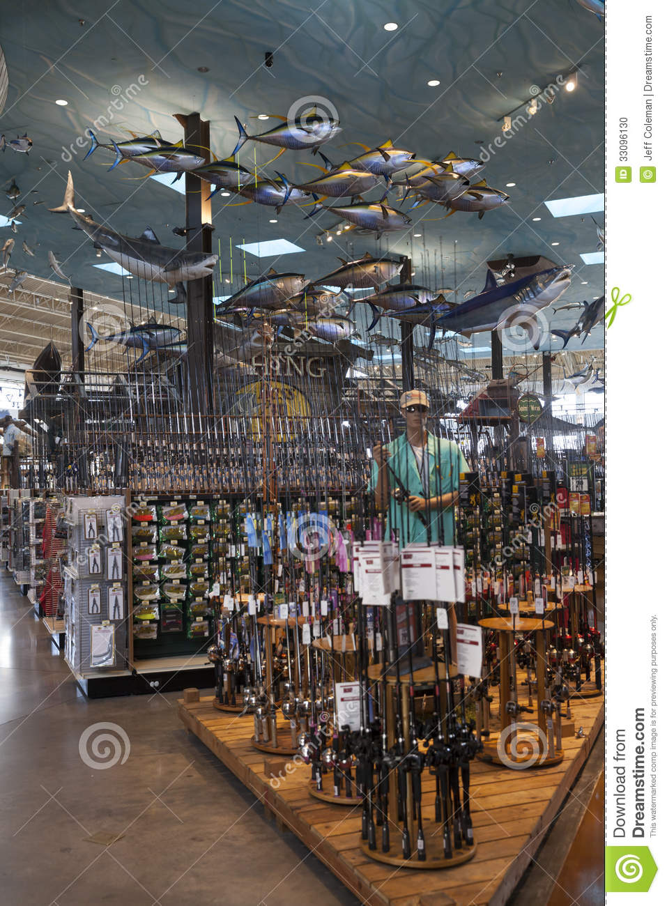 Bass pro shops springfield missouri ceiling editorial for Bass pro shop fishing