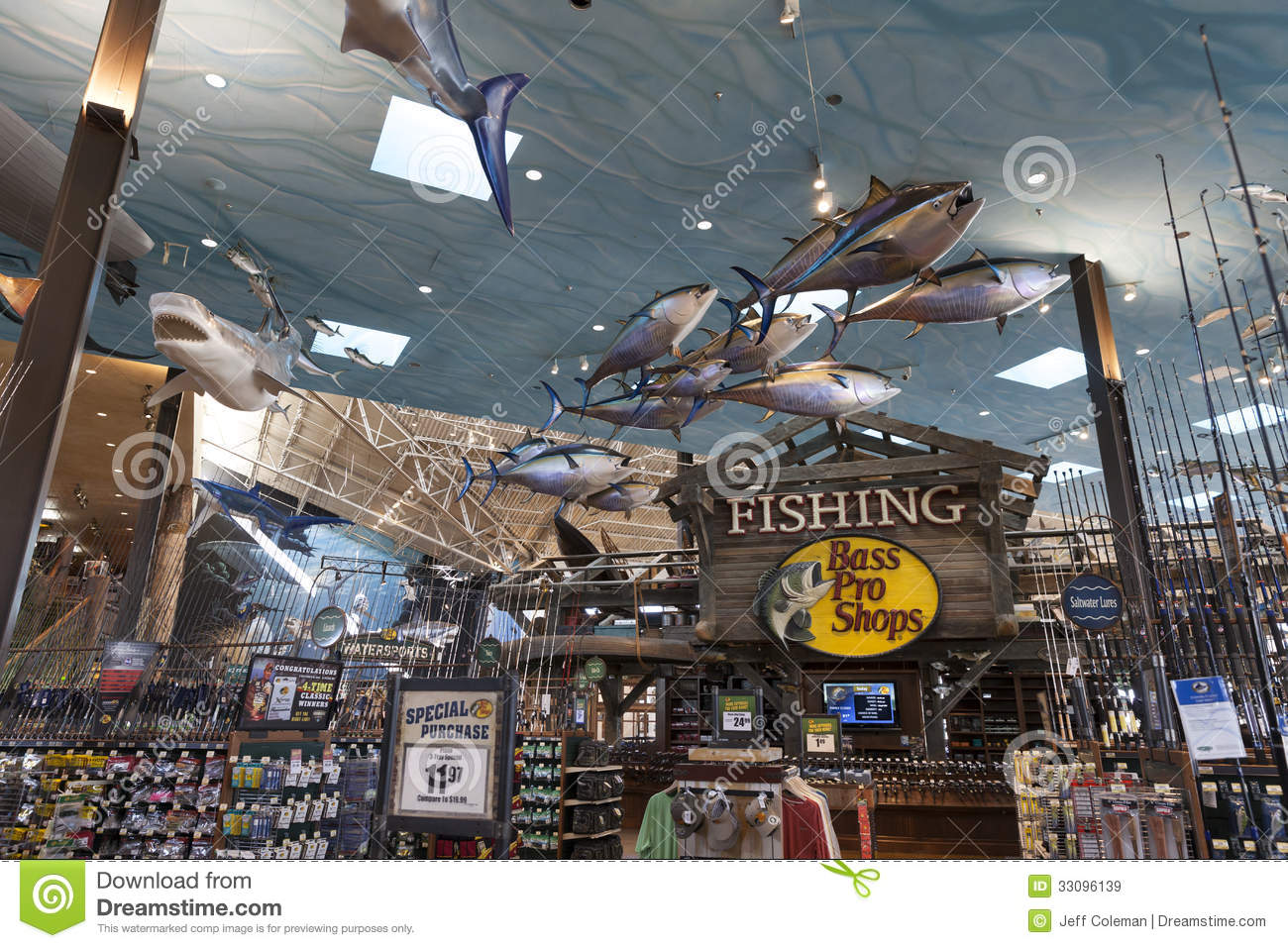 Bass pro shop fishing section at the silverton hotel in for Bass pro shop fishing