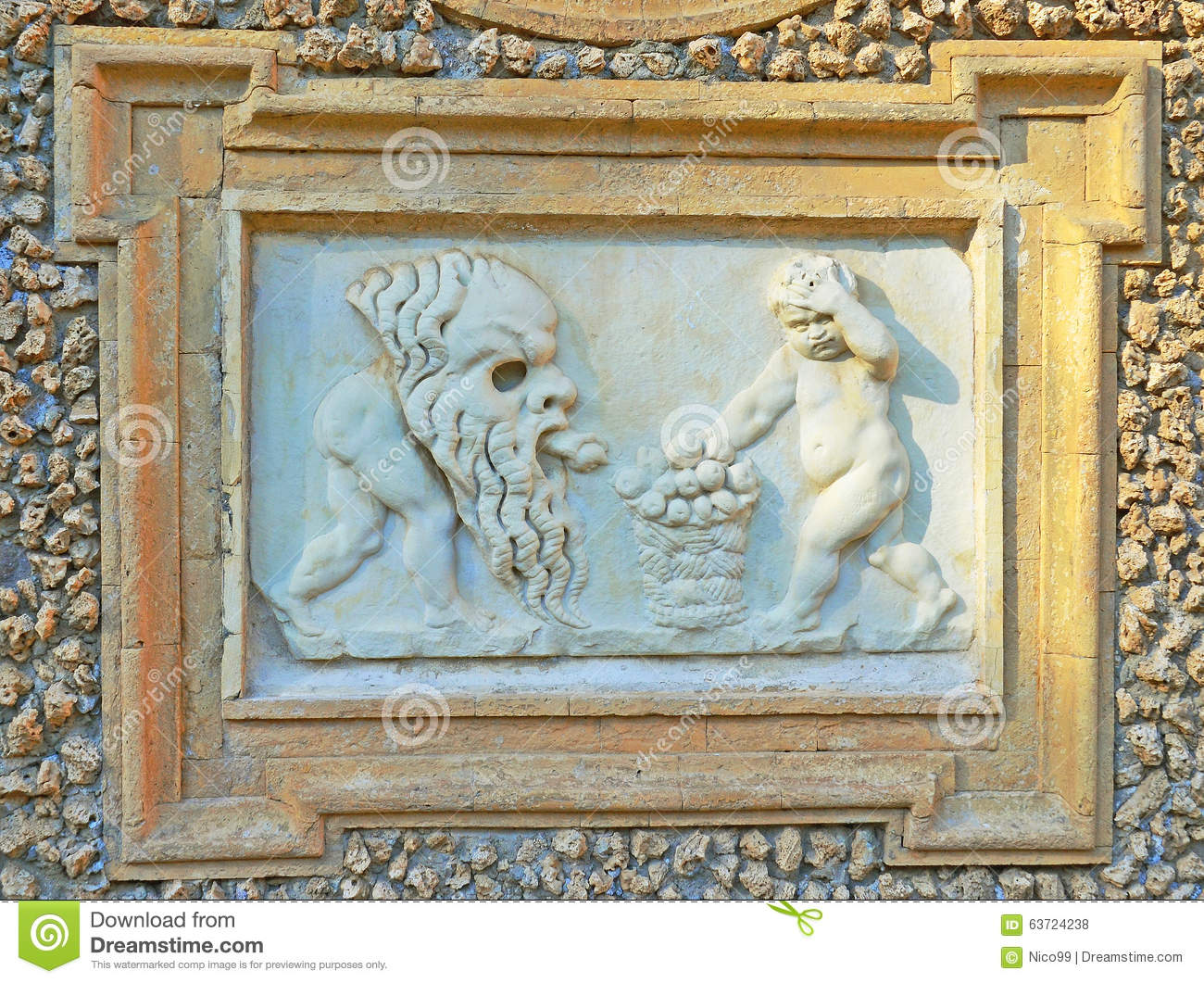 bass relief of renaissance period stock photo image 63724238. Black Bedroom Furniture Sets. Home Design Ideas