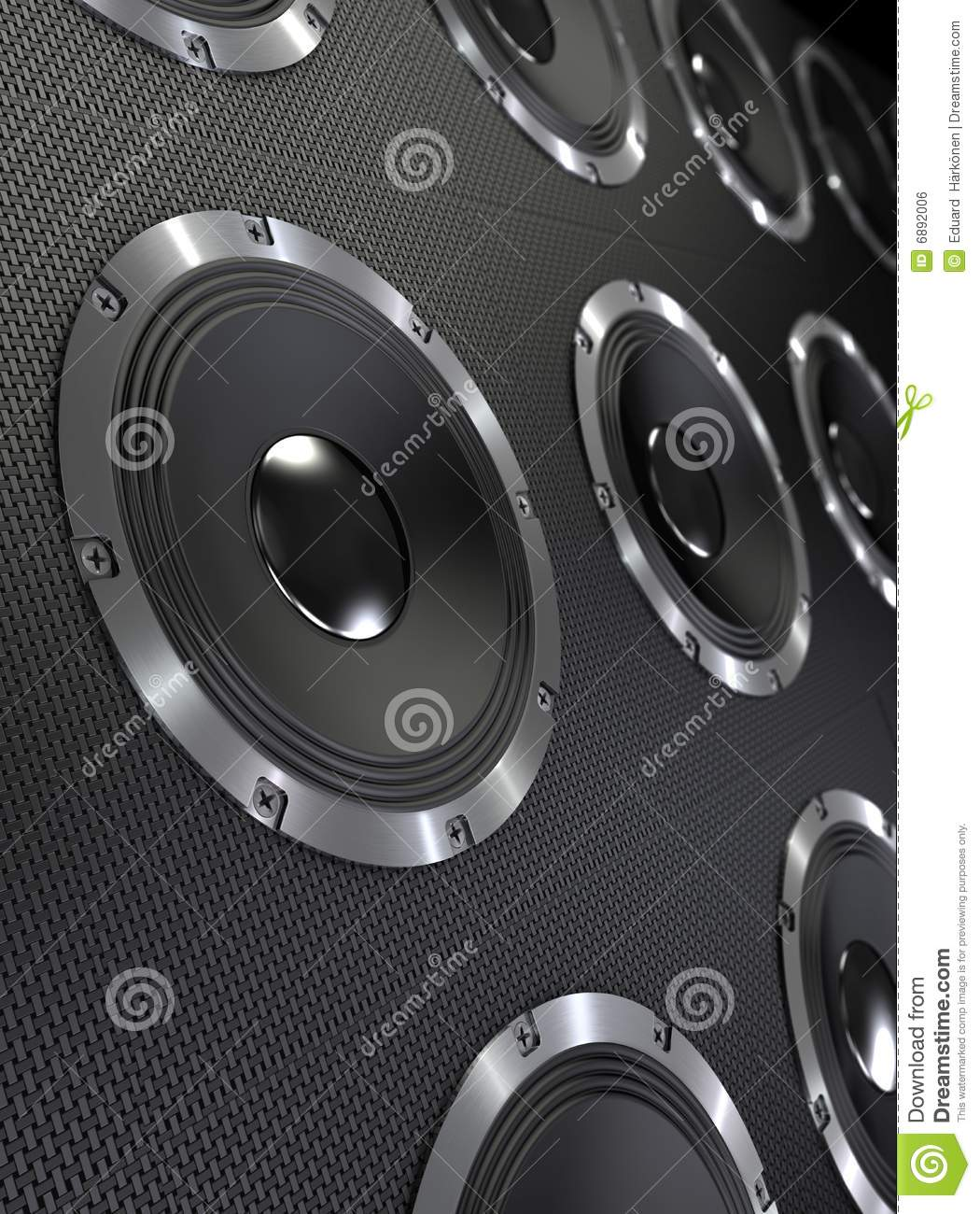 Bass Speakers Background stock illustration. Image of bolt ...