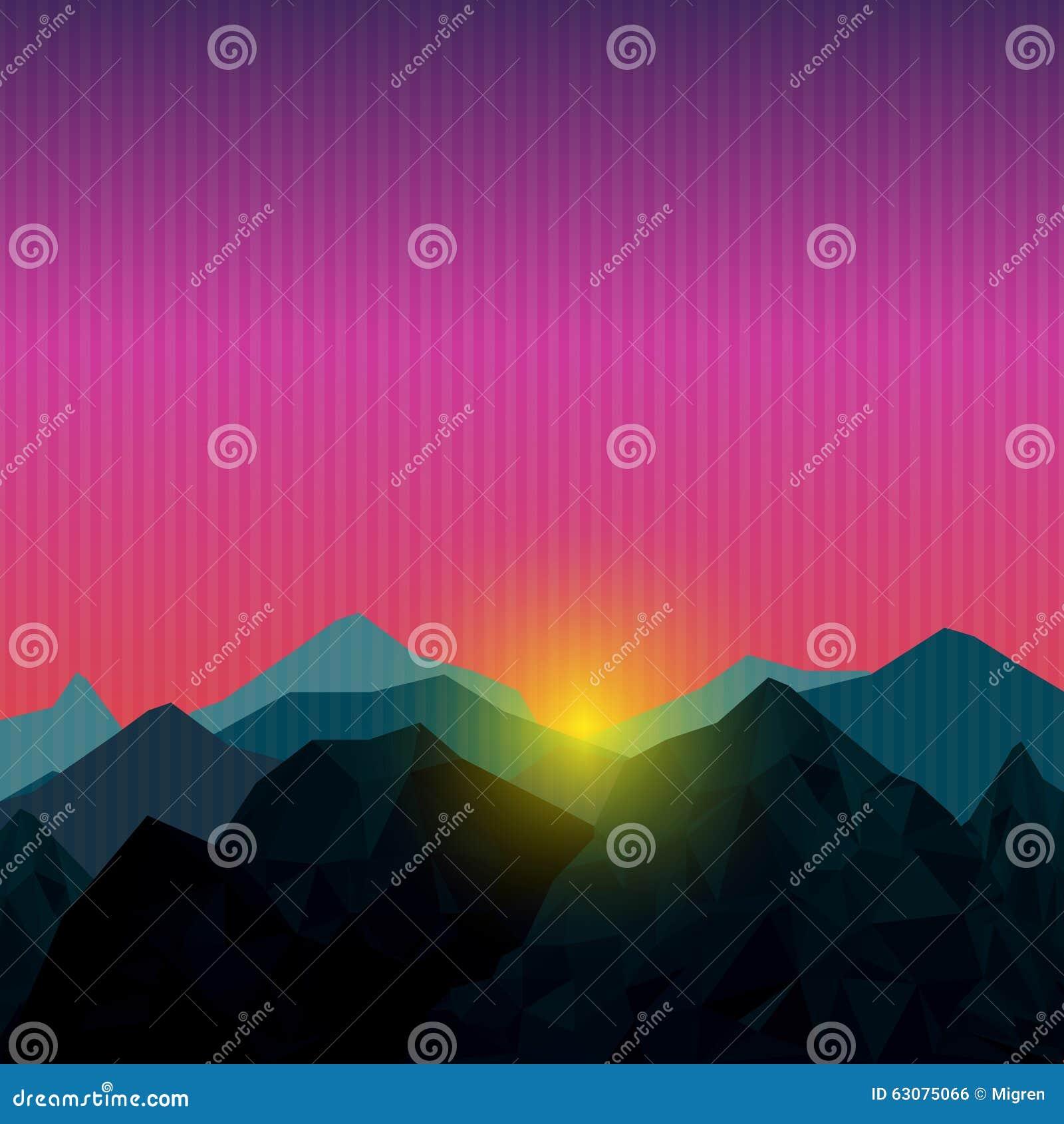 Download Basse montagne polygonale illustration de vecteur. Illustration du horizon - 63075066