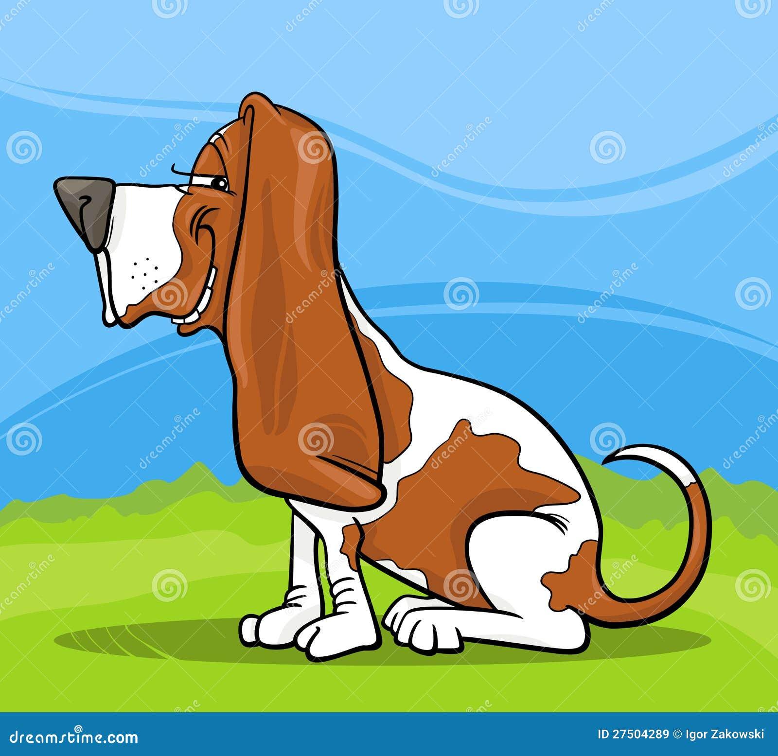 basset hound dog cartoon illustration stock vector image 27504289 Animated Puppy Clip Art Dog Graphic