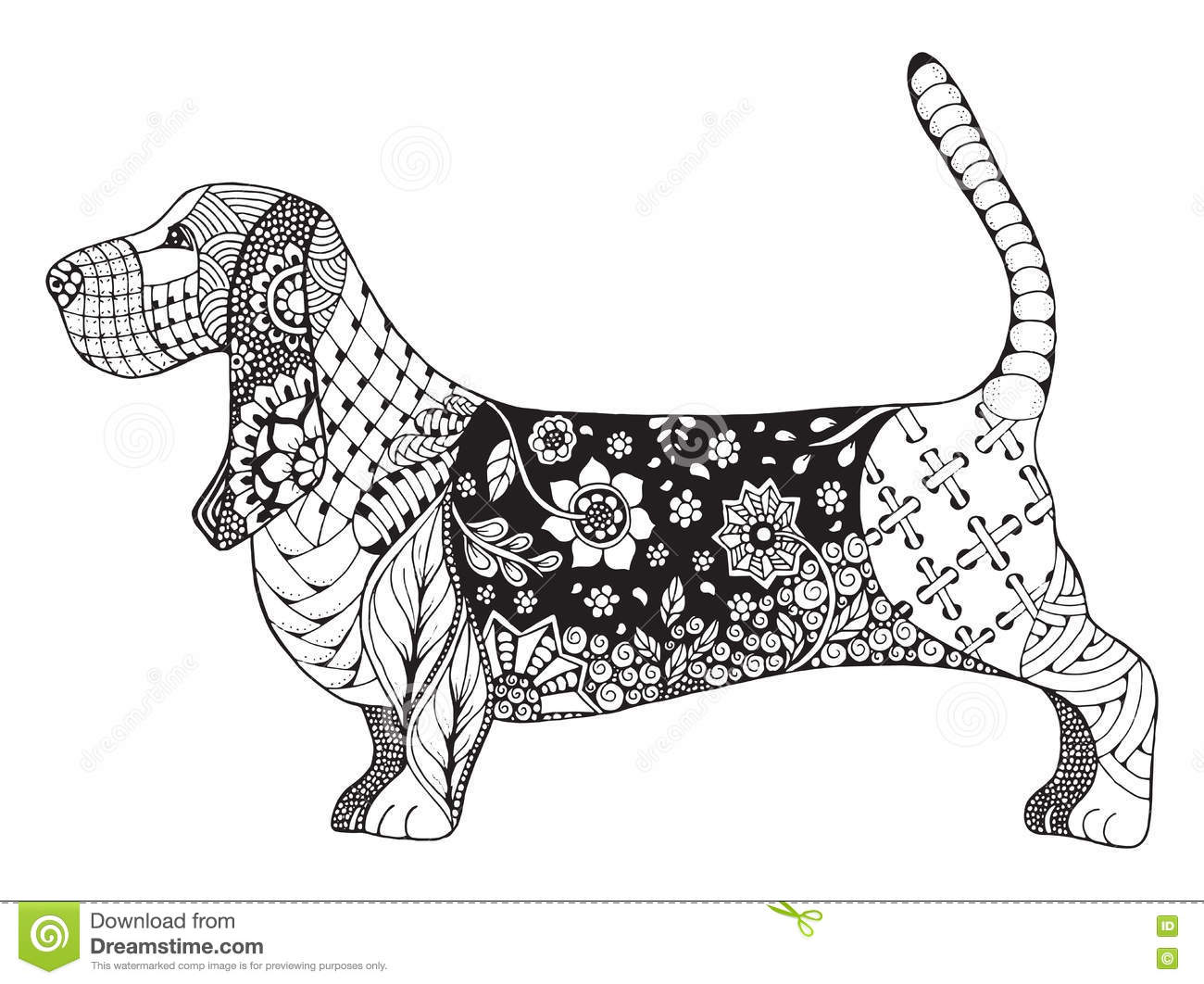 Basset Hound Coloring Pages - Coloring Pages For All Ages ... | 1062x1300