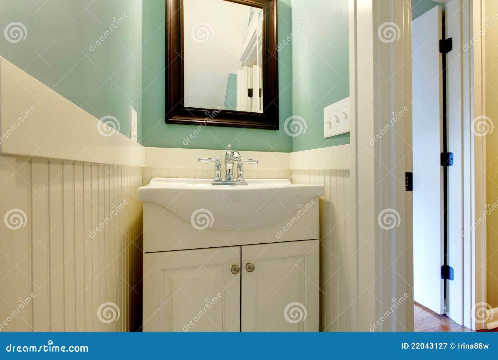 Bassin moderne blanc vert bleu de luxe de salle de bains ...