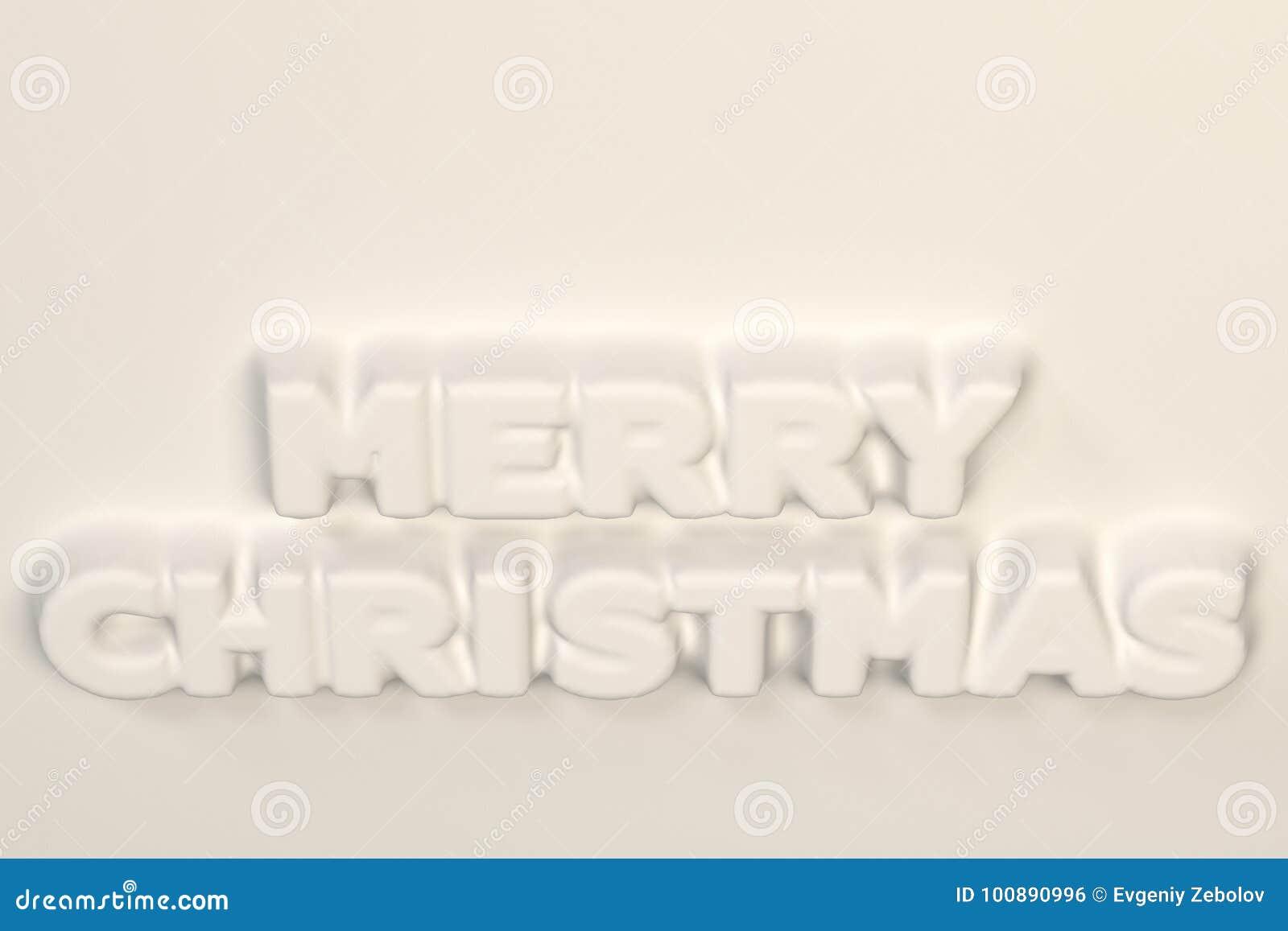 Parole Di Buon Natale.Bassorilievo Bianco Di Parole Di Buon Natale Illustrazione