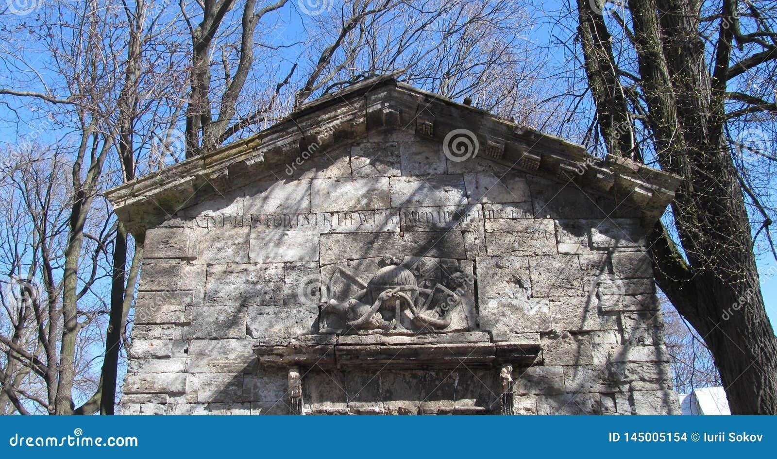 Bassorilievo su una costruzione di pietra