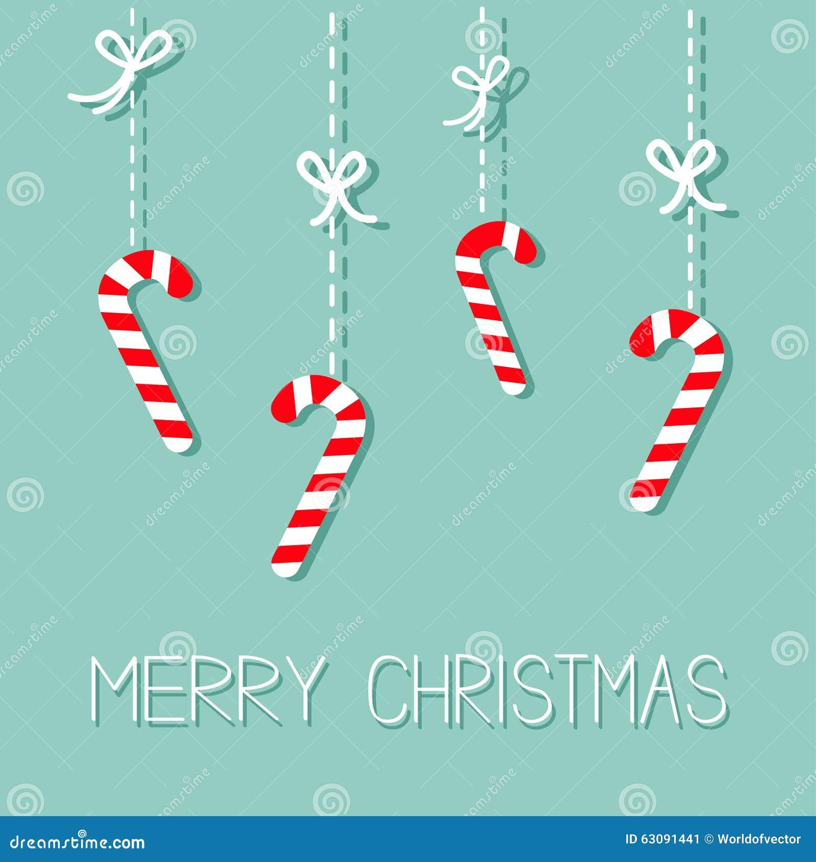 Bast n de caramelo de la ejecuci n de la feliz navidad - Caramelos de navidad ...