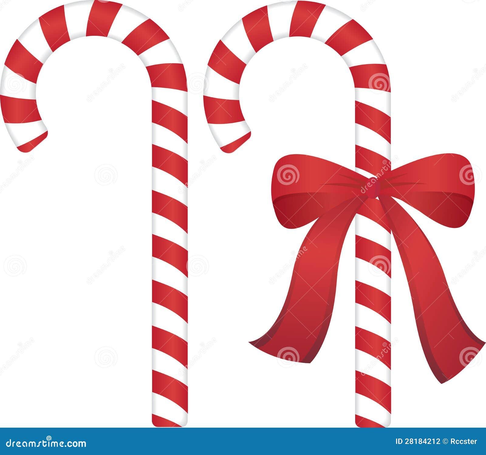 Bastón De Caramelo De La Navidad Ilustración del Vector ...
