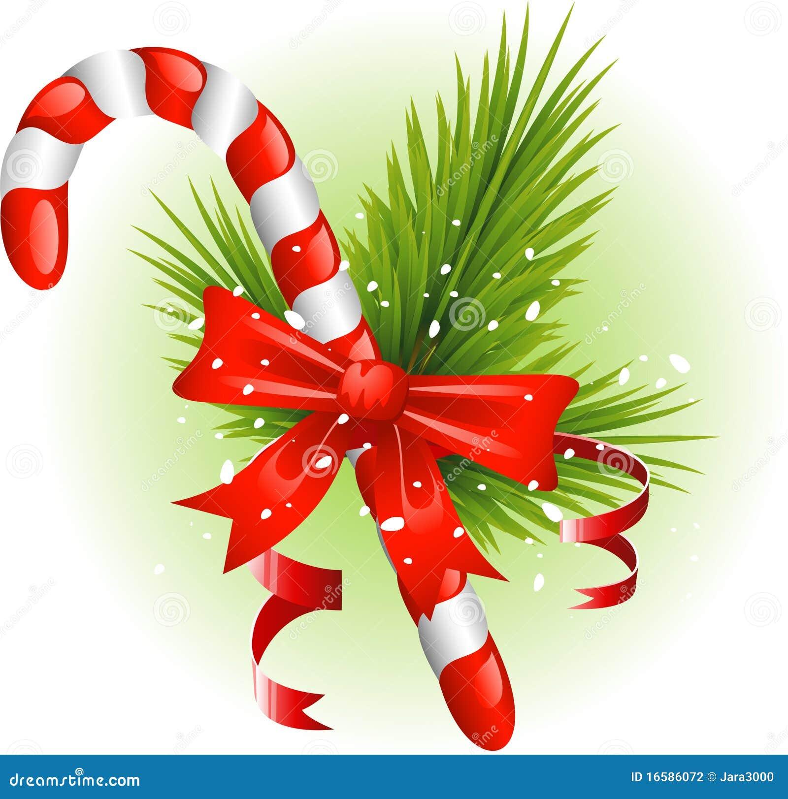 Bast n de caramelo de la navidad adornado con las - Caramelos de navidad ...
