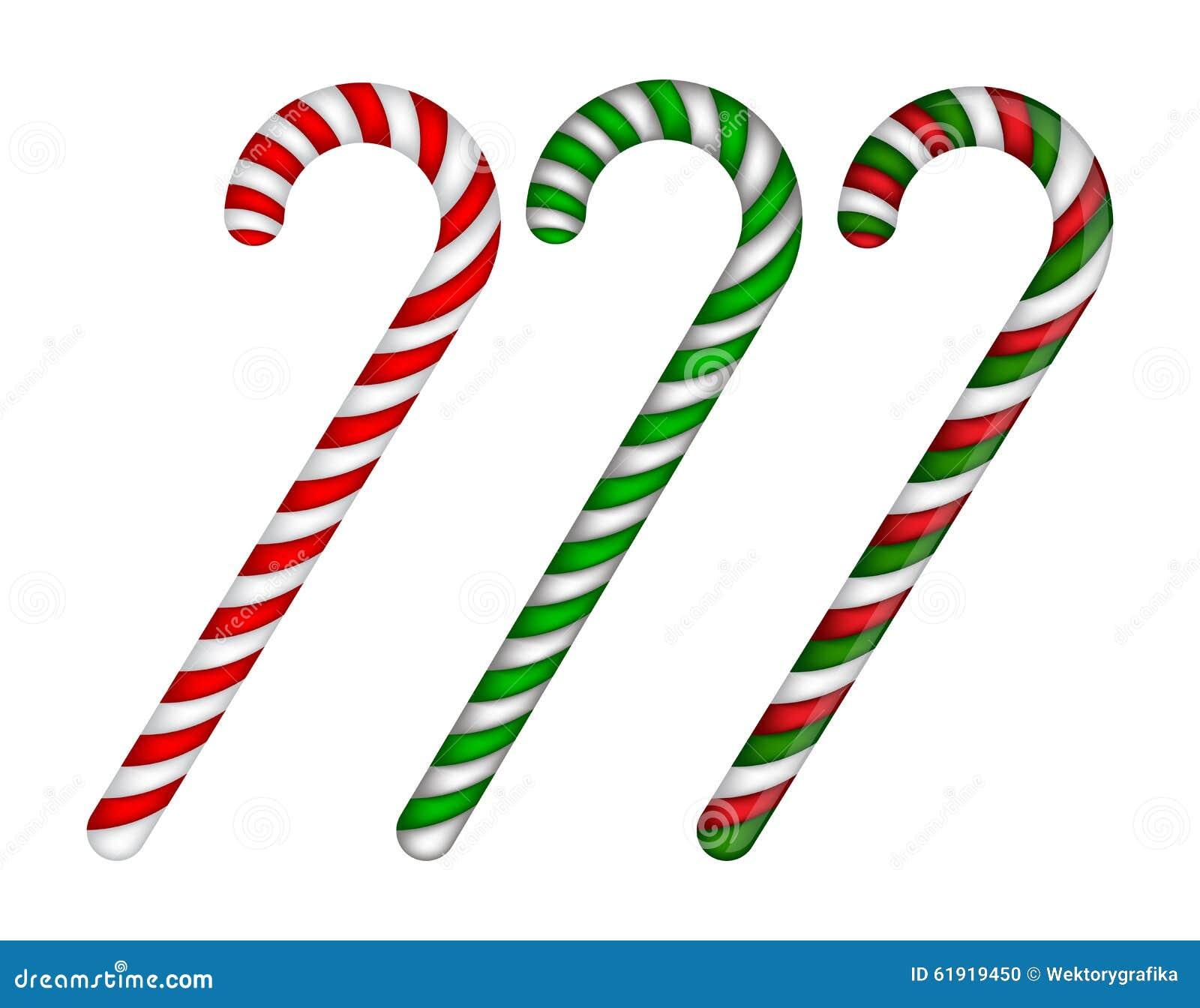 Bastón De Caramelo Rayado En Colores De La Navidad Ejemplo Del ...