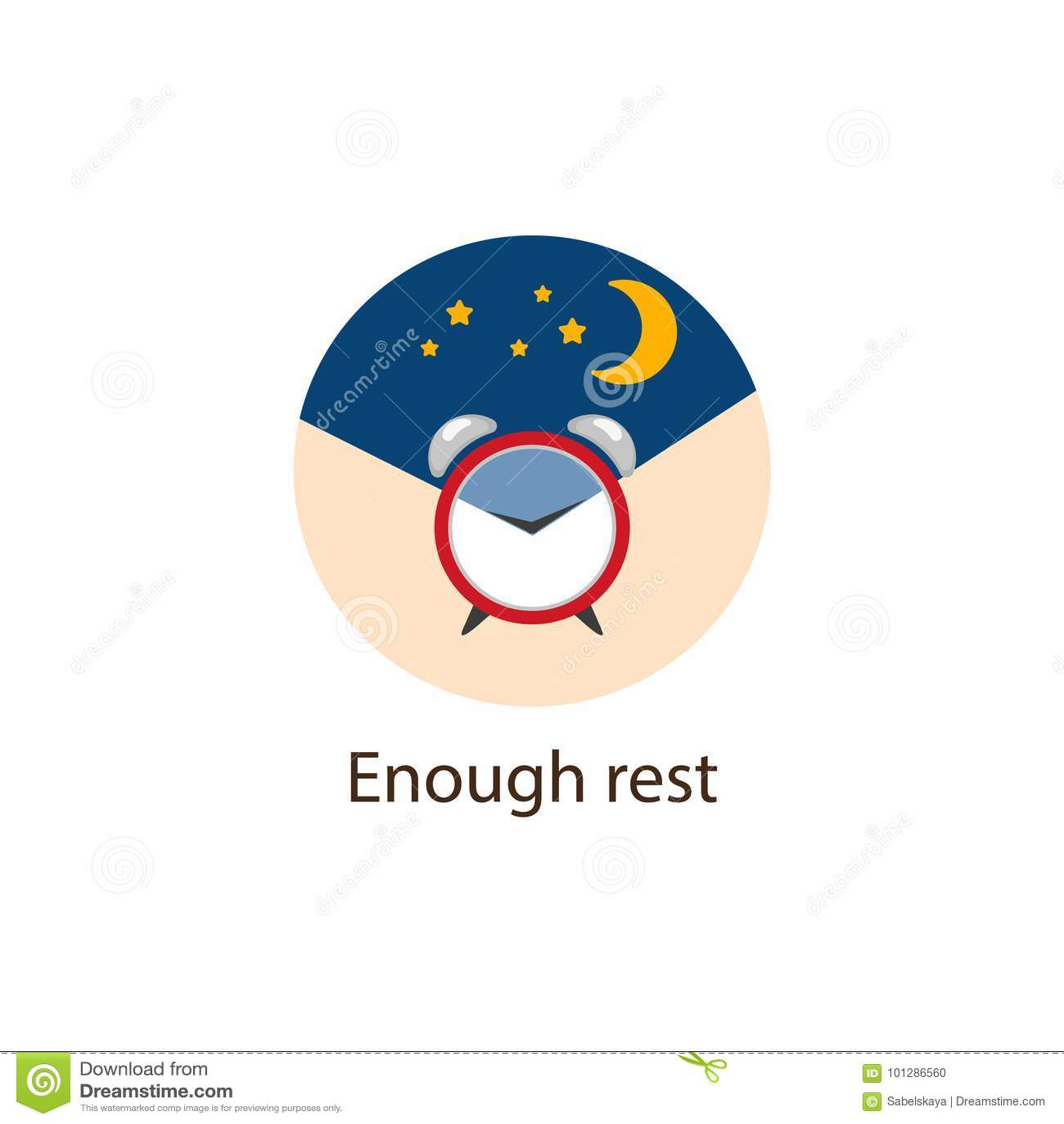 Bastantes descansan alrededor del icono plano, concepto del bienestar