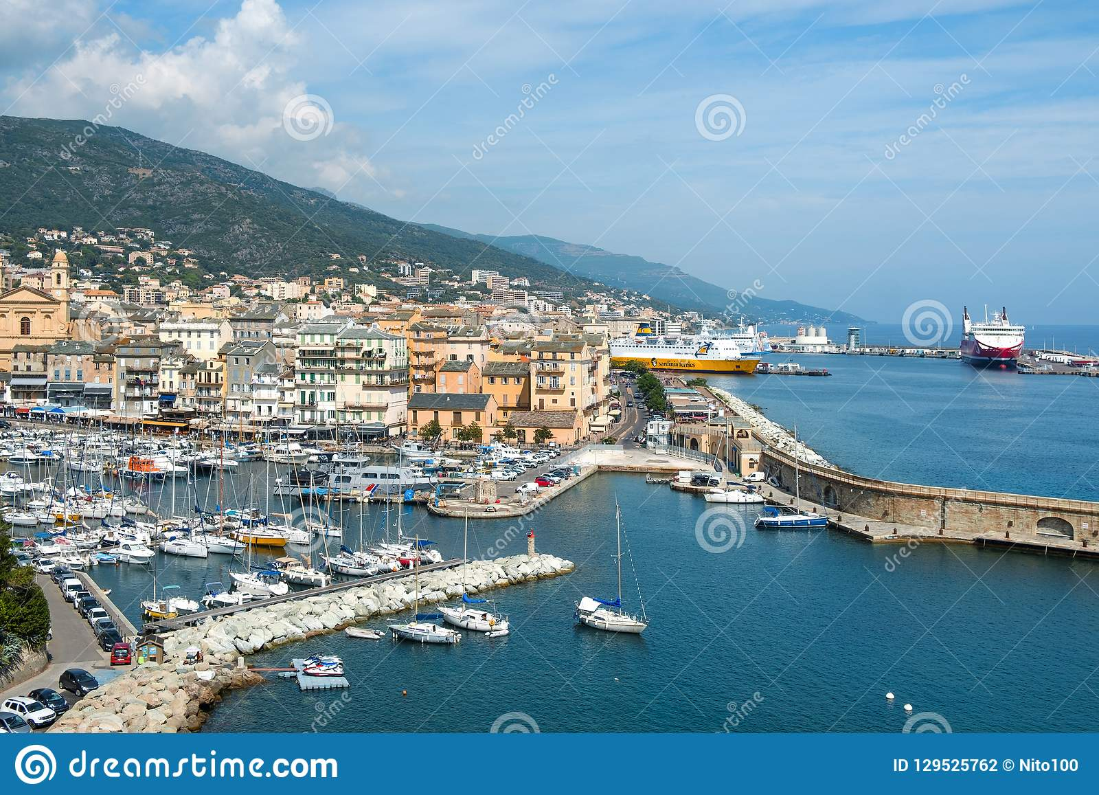 Vieux Port The Old Port In Bastia France Editorial Photography