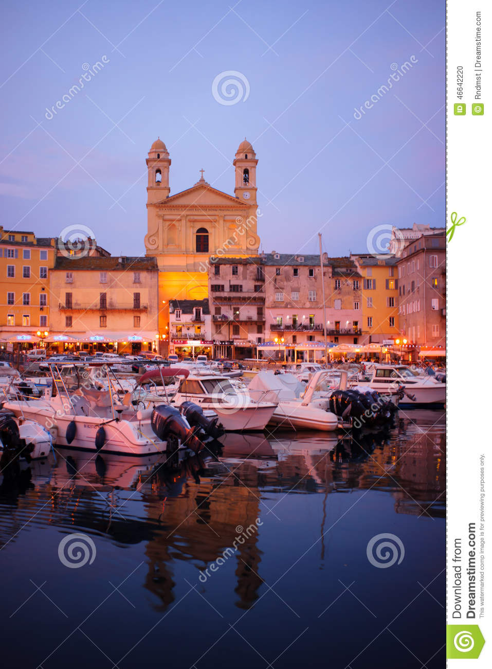 Bastia Vieux Port Editorial Image Image Of Cathedral 46642220