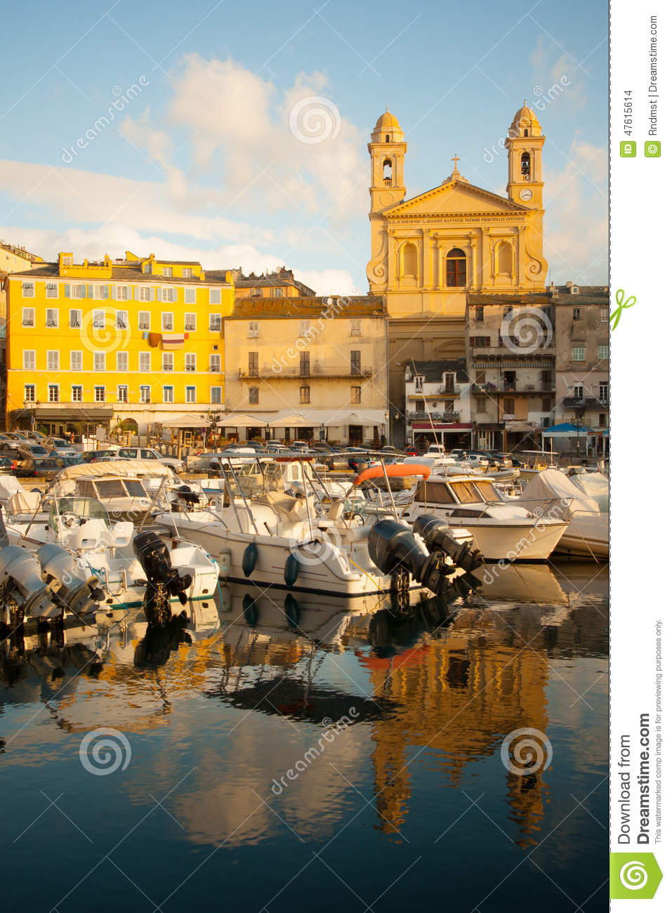 Bastia Vieux Port Stock Photo Image Of John Mediterranean 47615614