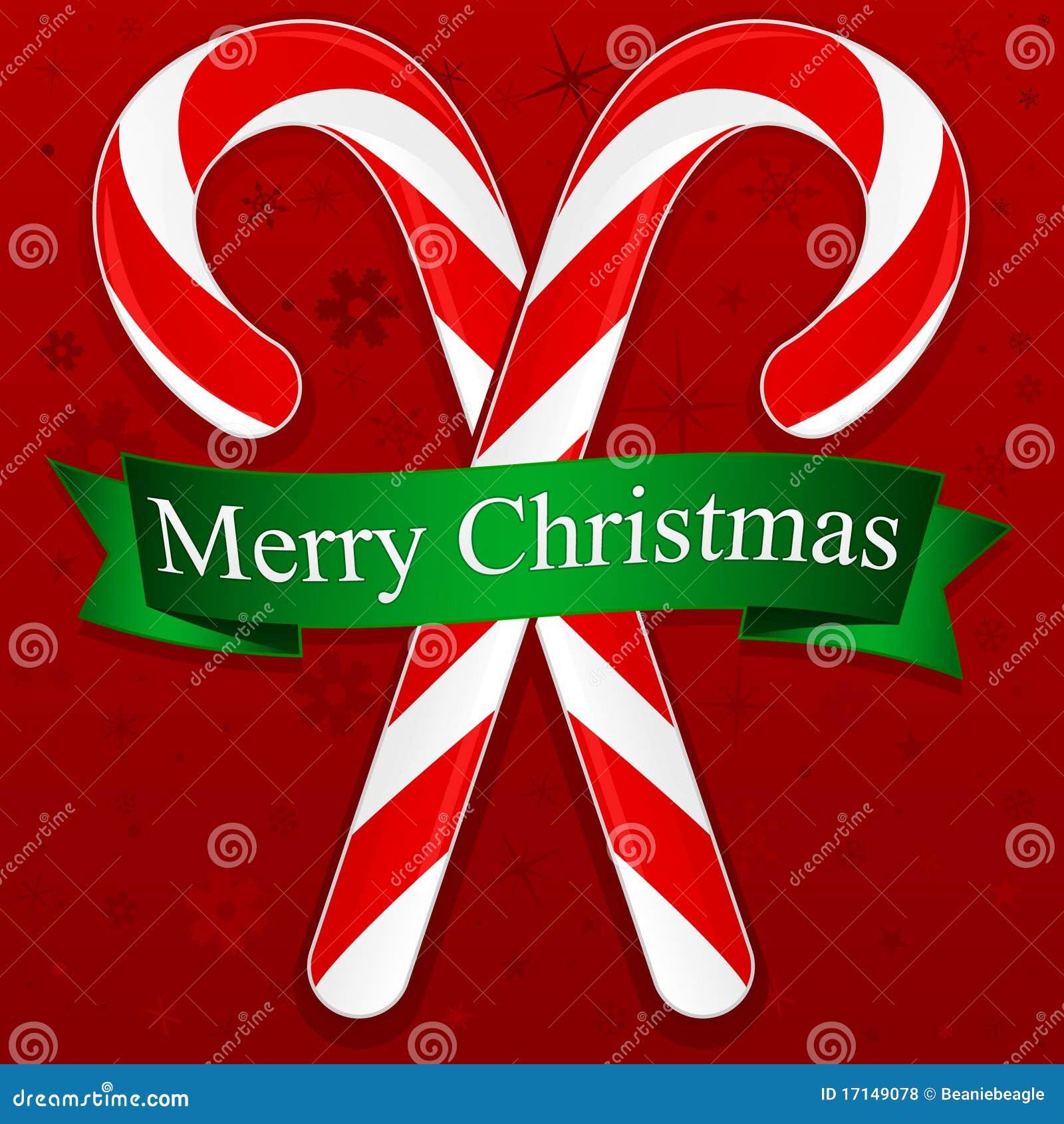 Bastones De Caramelo De La Feliz Navidad Ilustración del Vector ...