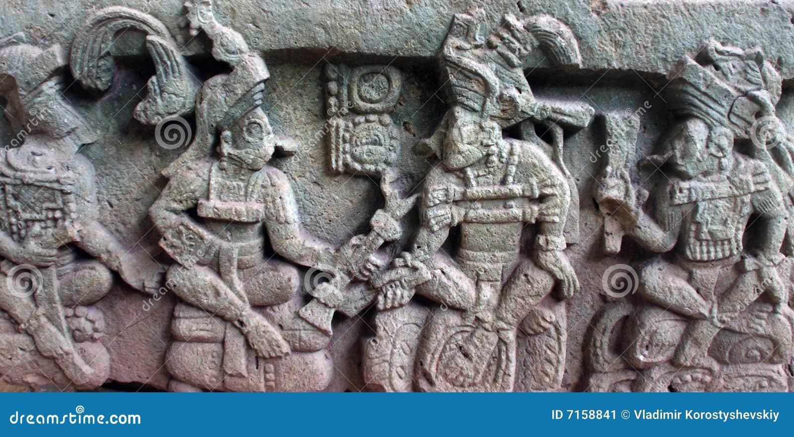 Basy przedstawia inich k mo reliefowego uk yax