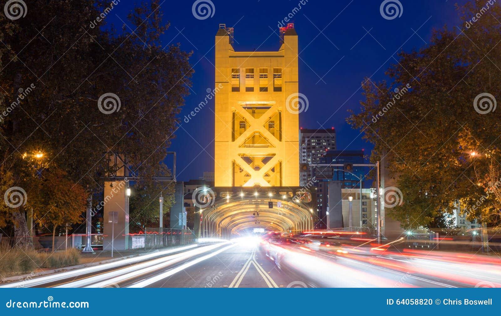 Basztowy Bridżowy Sacramento stolicy Kalifornia Rzeczny śródmieście S