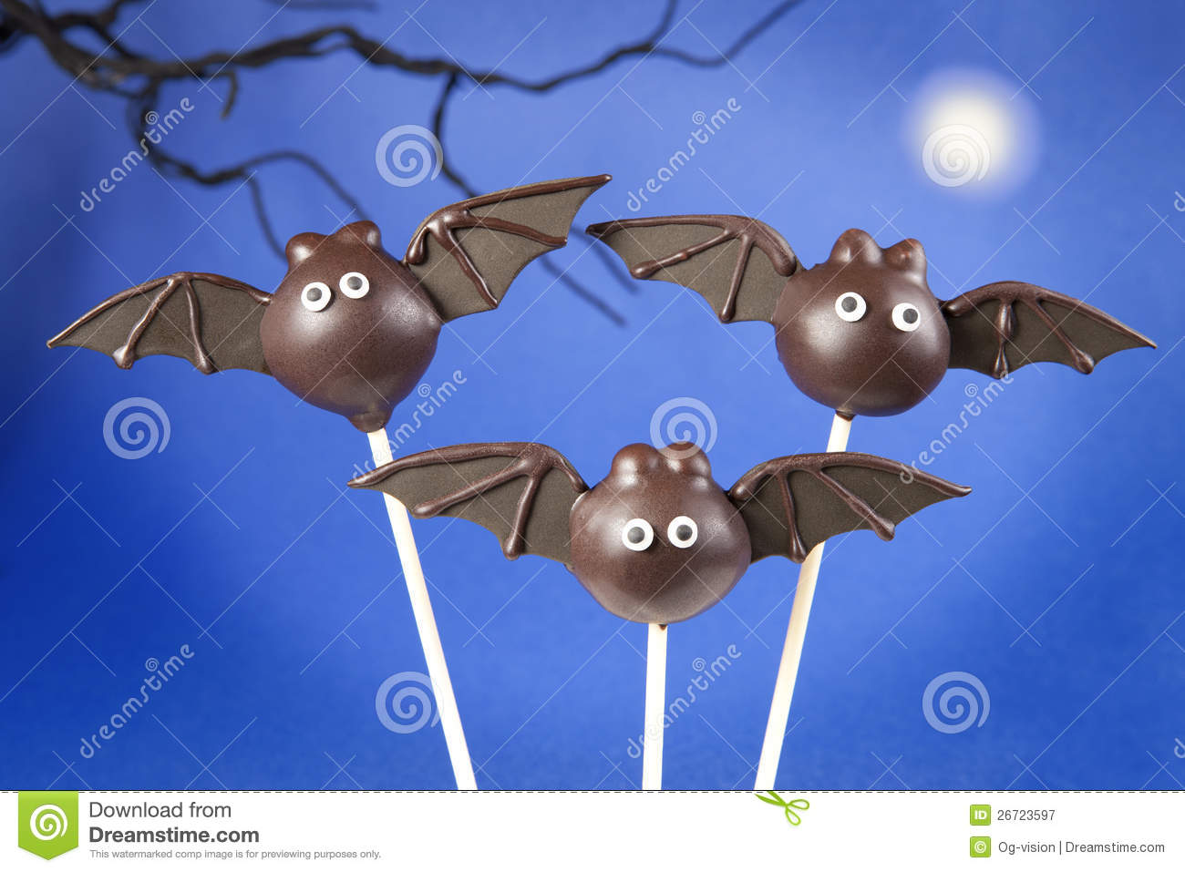 Bat Cake Pops Stock Image Image Of Cakepops Small Cake
