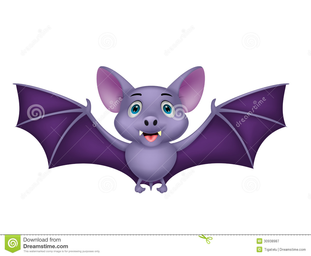 Bat Cartoon Flying Royalty Free Stock Photography - Image: 30938987