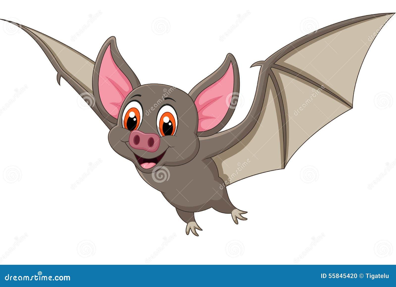 Bat Cartoon Flying Stock Vector - Image: 55845420