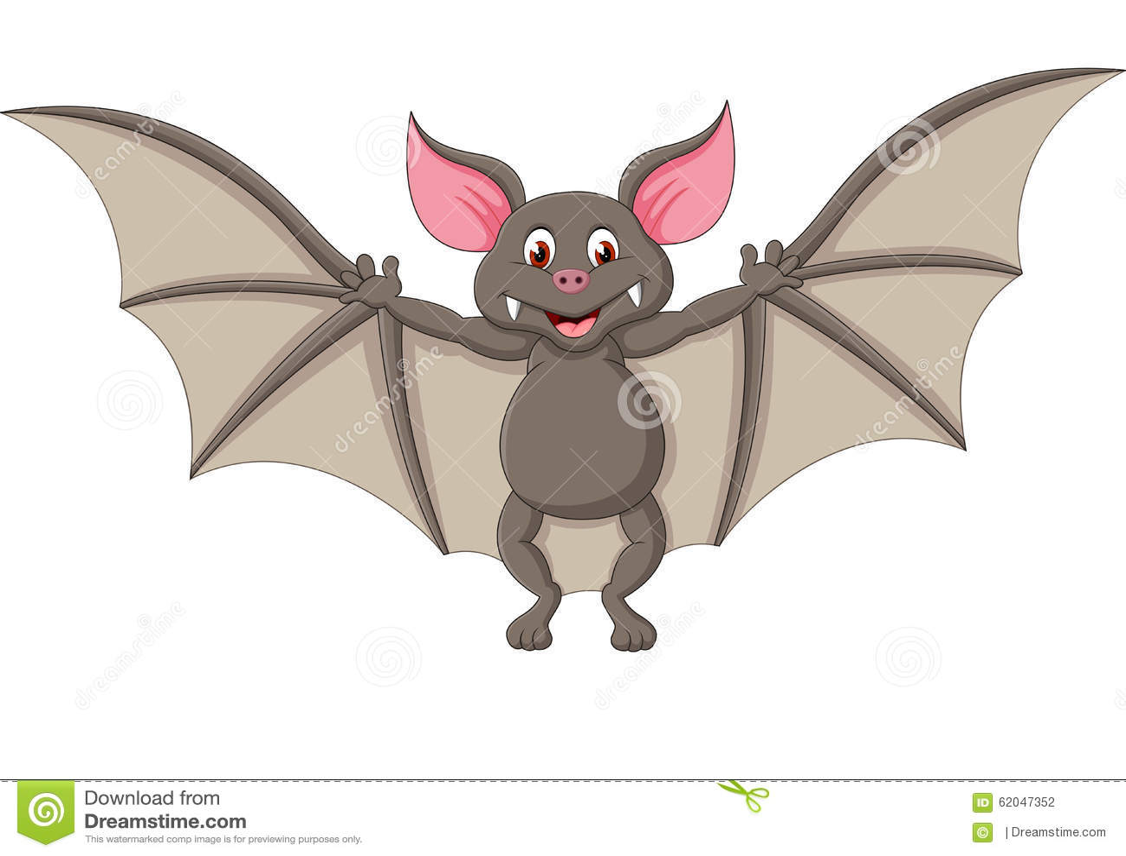 Bat Cartoon Flying Stock Vector - Image: 62047352