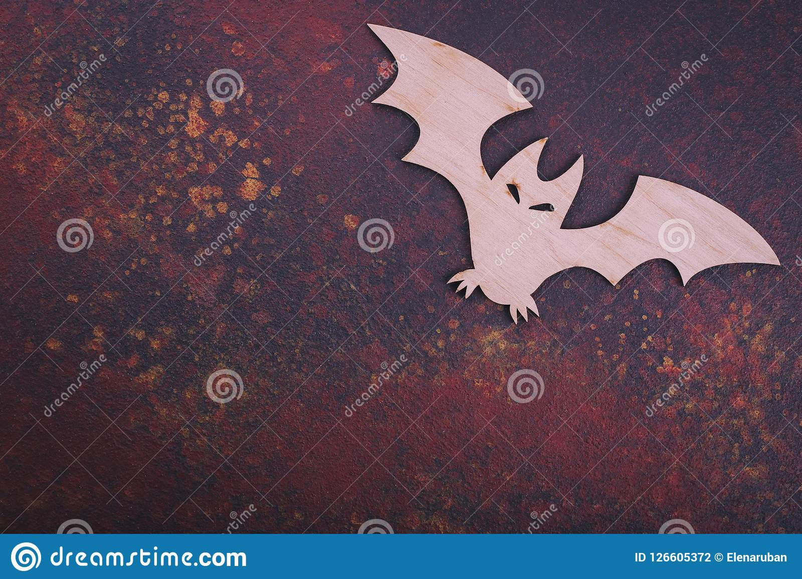 Bat Cut From Wood Place For Text Stock Photo Image Of Card Event