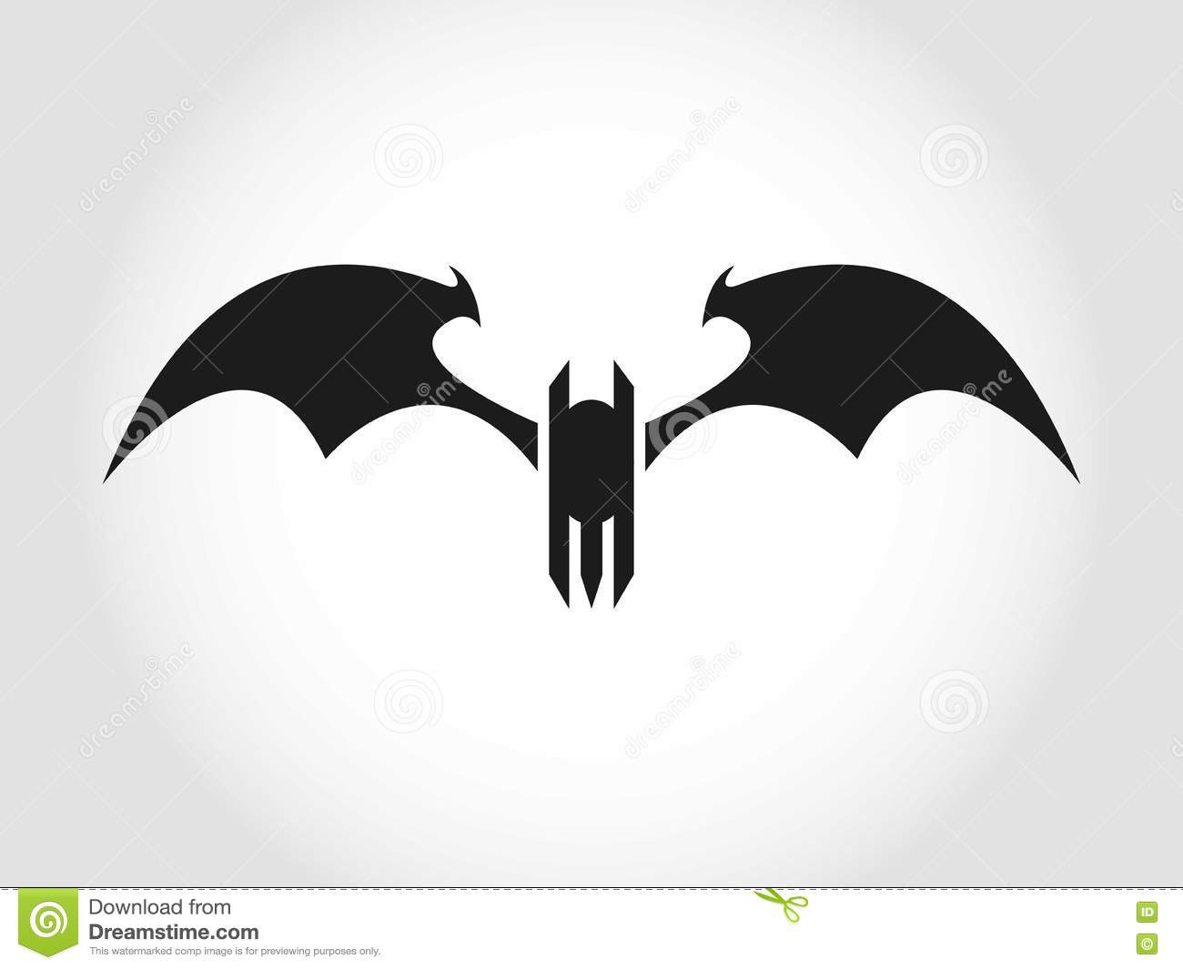 bat or devil logo stock illustration. illustration of background