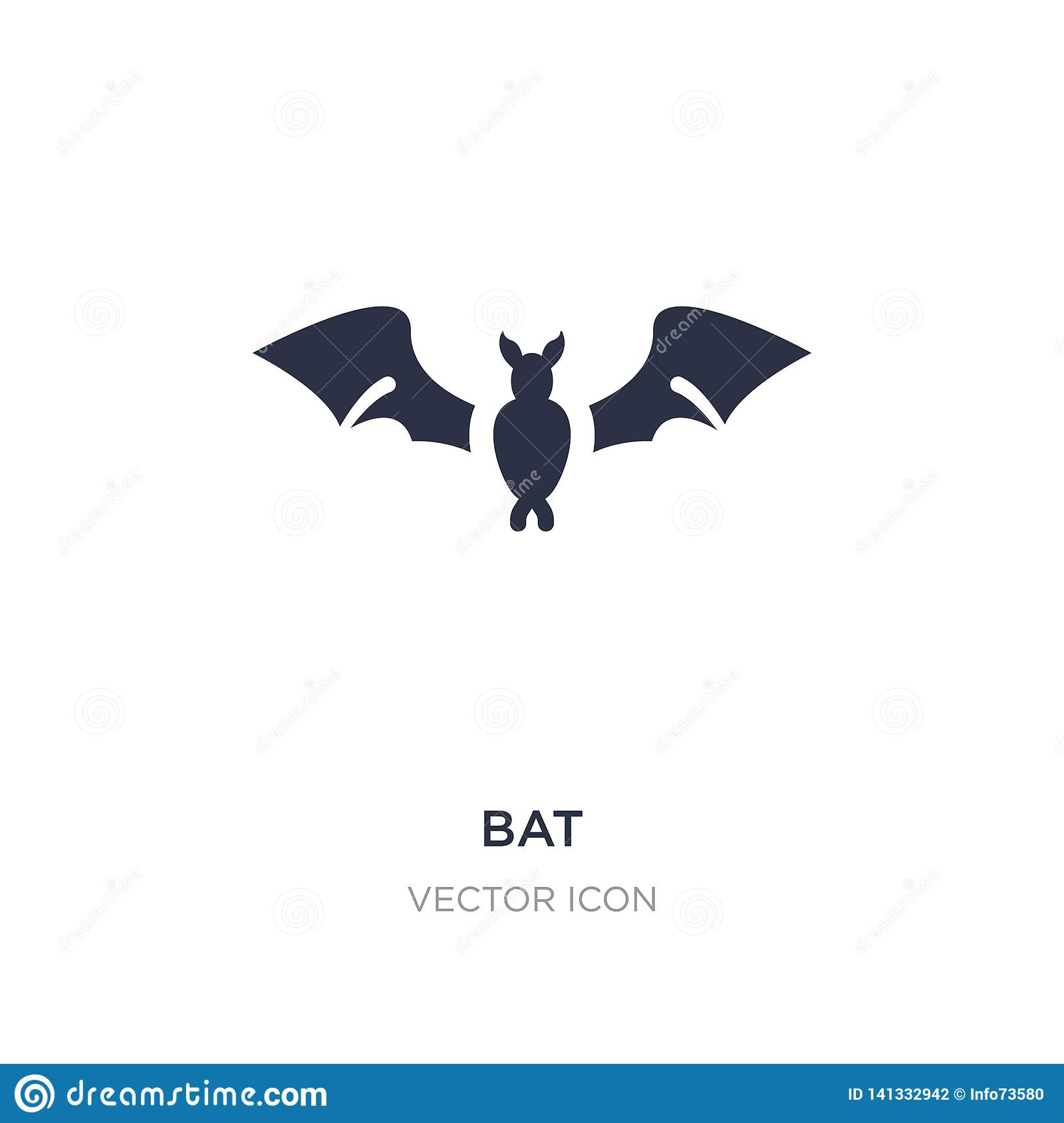 bat icon on white background. Simple element illustration from Autumn concept