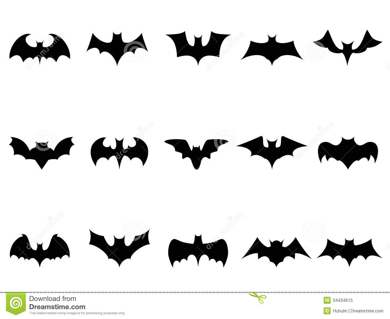 Bat Icons Royalty Free...