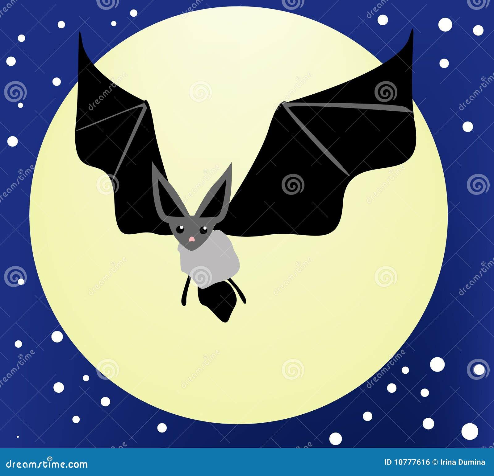 Bat In Night Sky Stock Illustration Illustration Of Carnivore