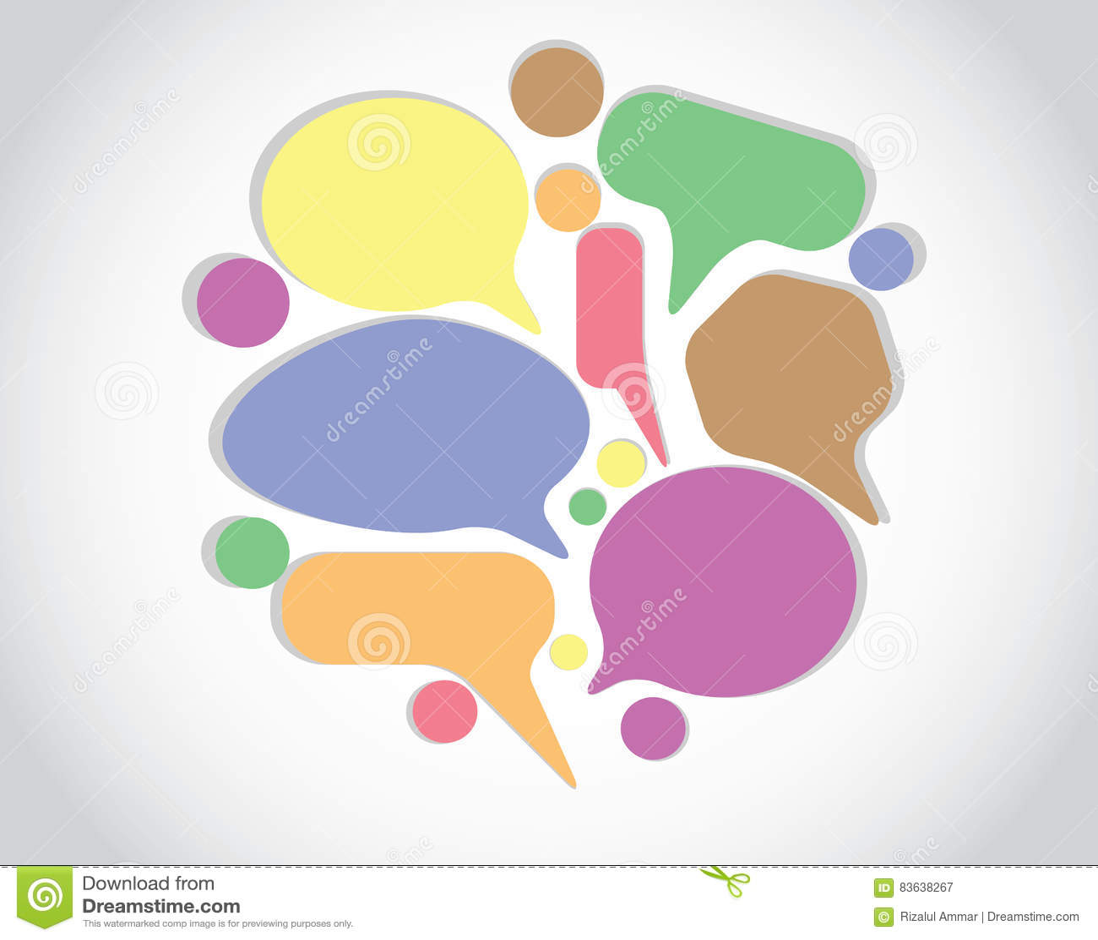 Bate-papo da conversação de Colorfull