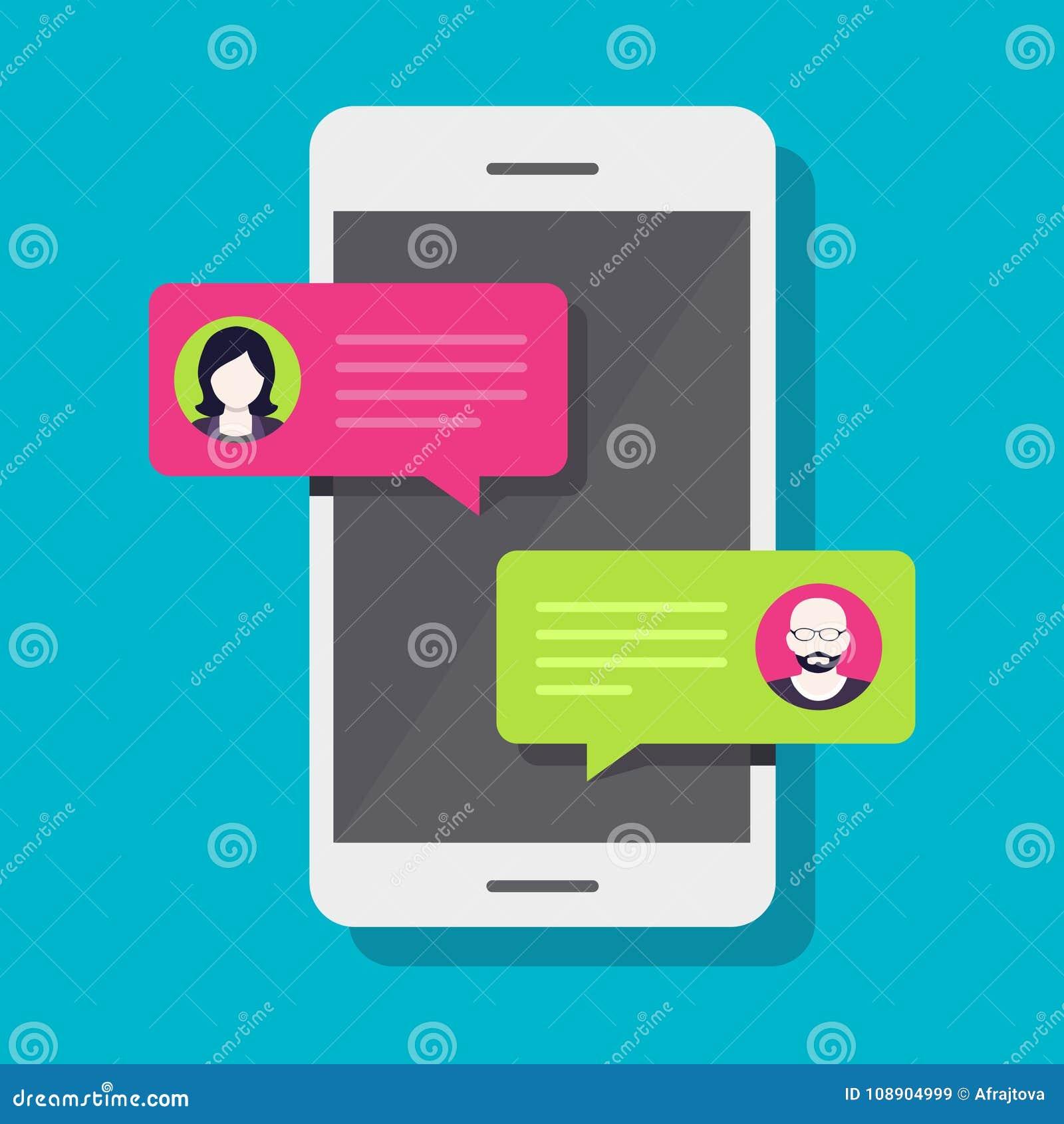 Bate-papo de Smartphone, conversação