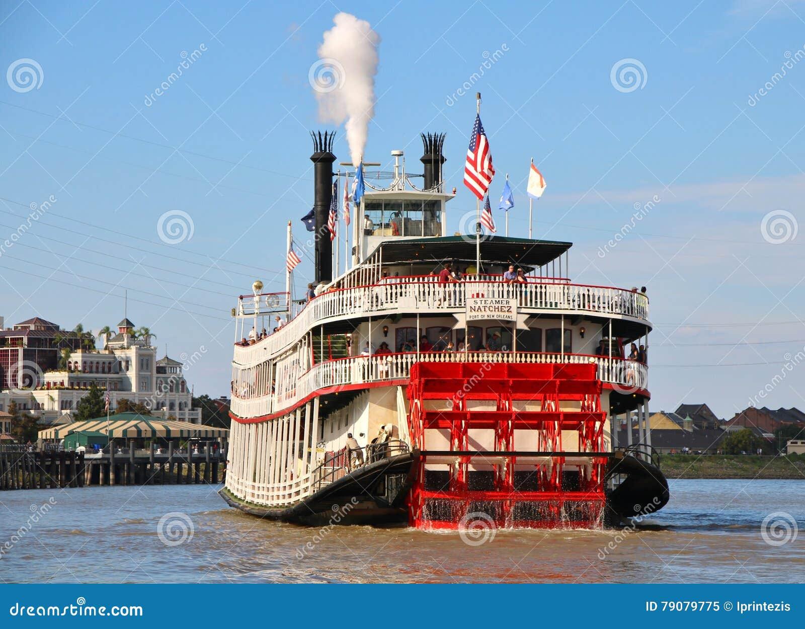 bateau vapeur natchez le fleuve mississippi de la nouvelle orlans image ditorial