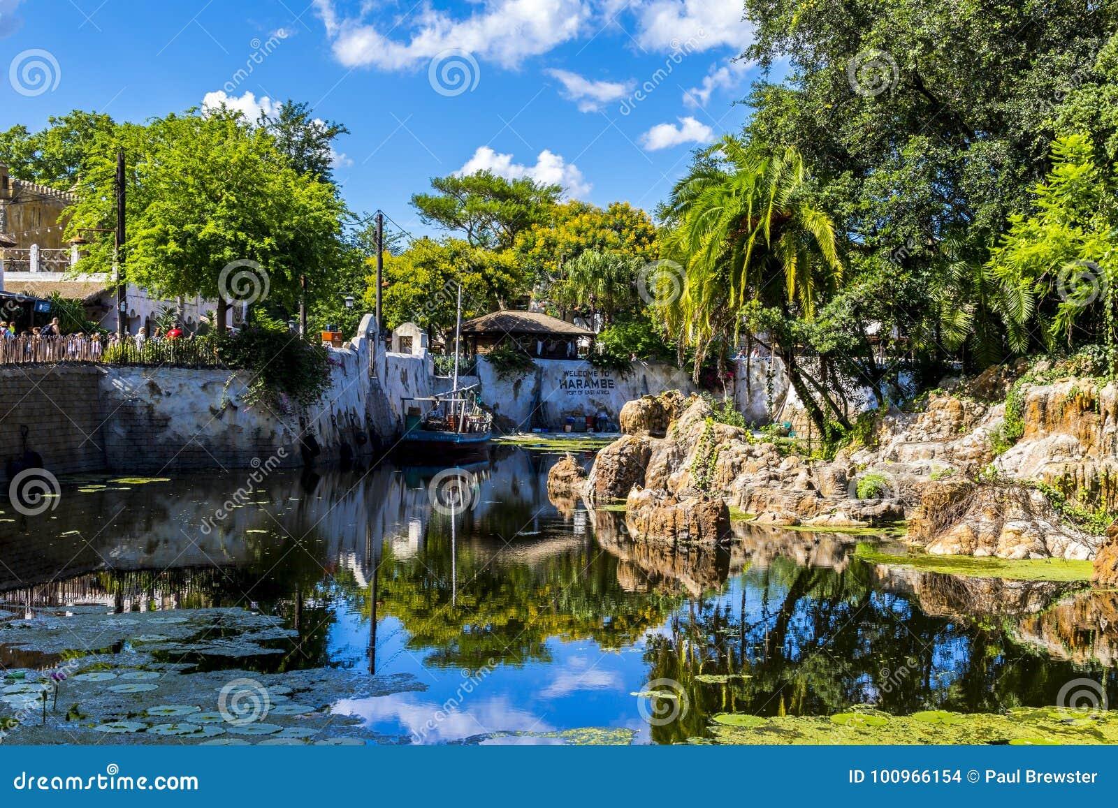 Bateau d Orlando Florida Animal Kingdom du monde de Disney sur l eau en Afrique