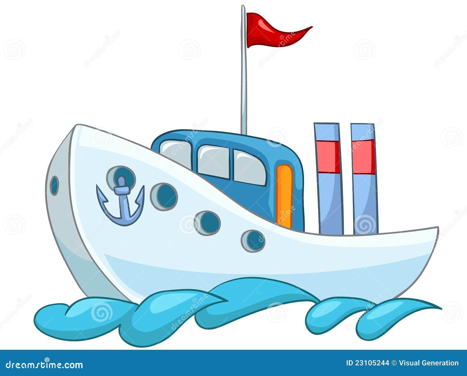 Bateau de dessin anim illustration de vecteur image du - Dessin de bateau ...