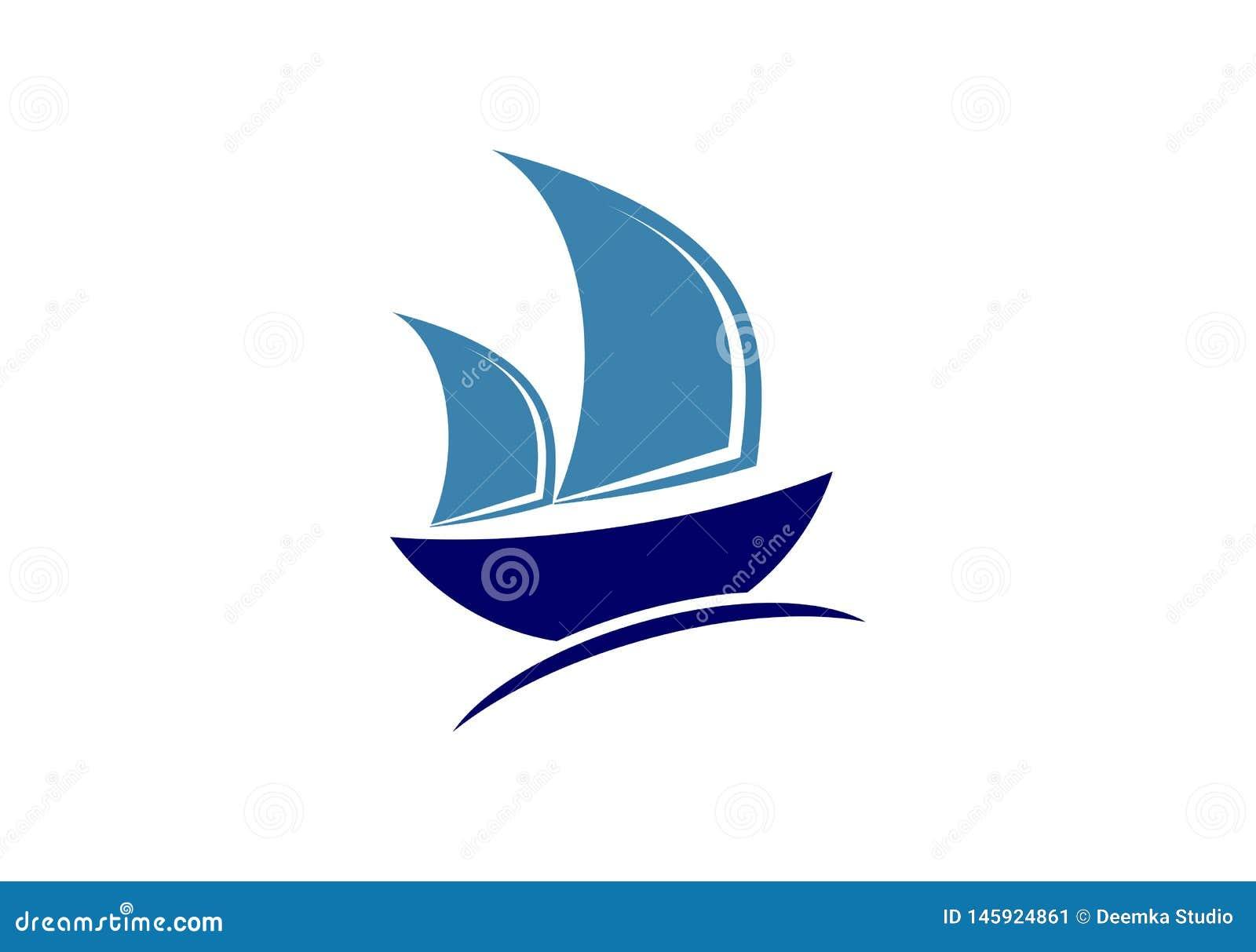 Bateau De Navigation Bateau Voile Voilier Voile Bateau Logo De Tondeuse Illustration Stock Illustration Du Bateau Voilier 145924861