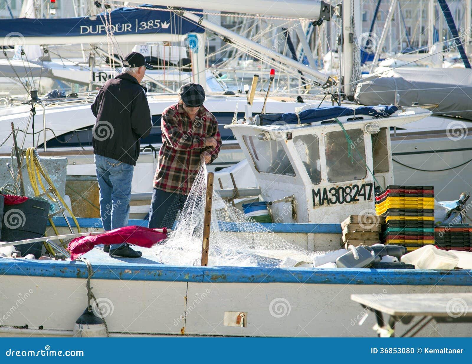 Bateau de p che au vieux port marseille france image - Promenade bateau marseille vieux port ...